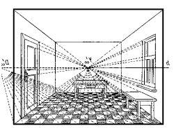 Перспектива комнаты с мебелью 5