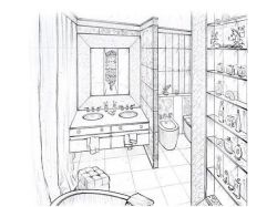 Перспектива комнаты с мебелью 6