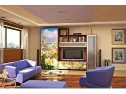 Перспектива комнаты с мебелью 8