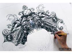 Рисунки граффити карандашом 8
