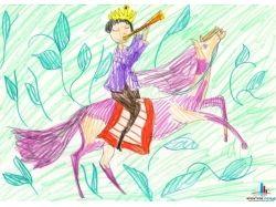 Детские рисунки на тему зима красками