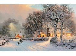 Фото зимней деревни