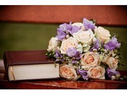 Книга и цветы картинки