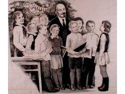 Ленин и дети картина