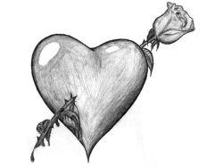 Красивые рисунки про любовь карандашом