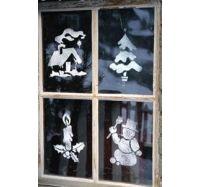 Рисунки на стекле гуашью