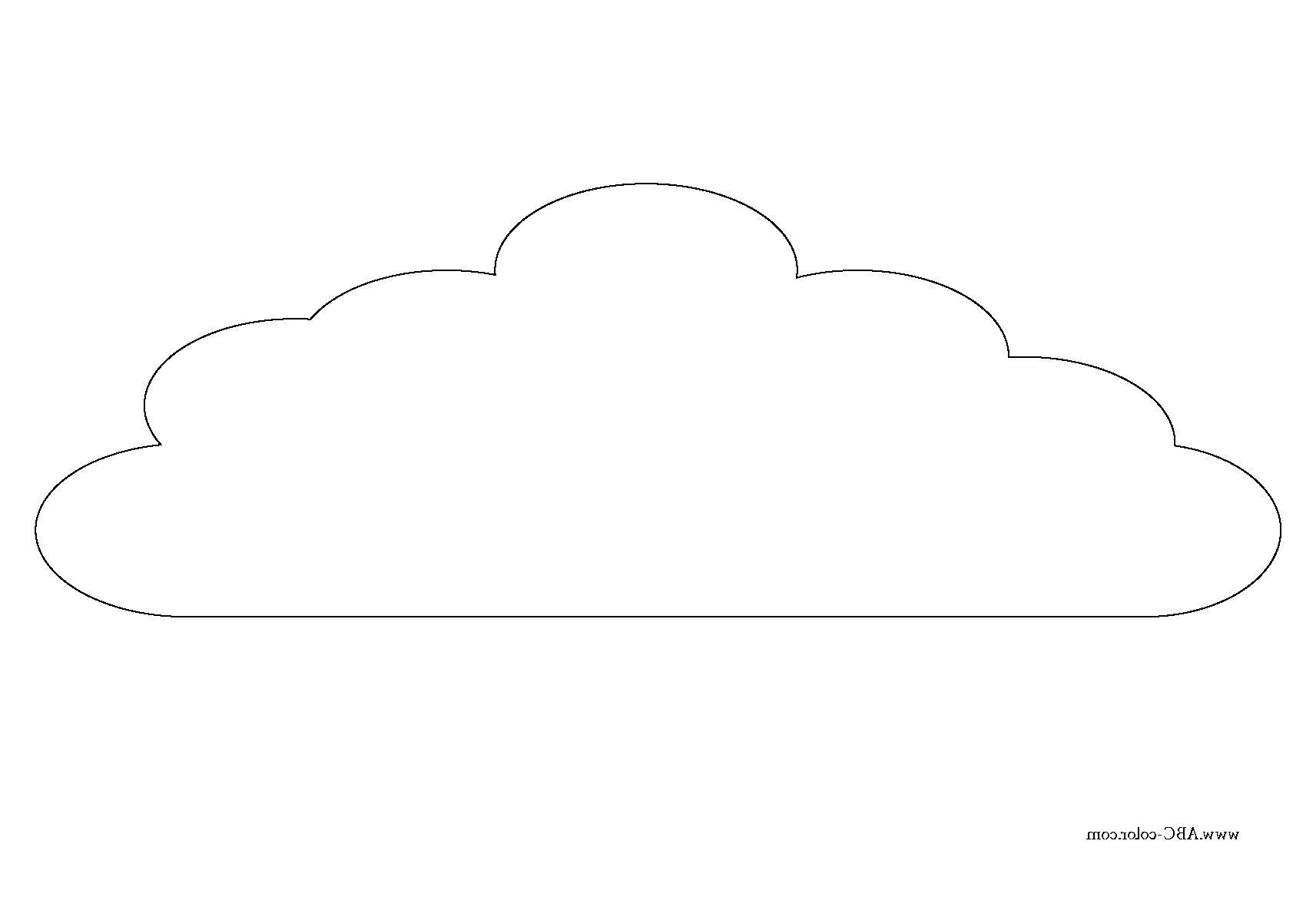 картинки облако для раскрашивания веков длинные