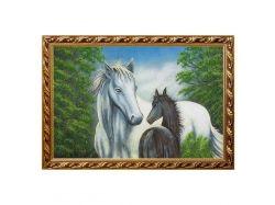 Картина лошадь с жеребенком