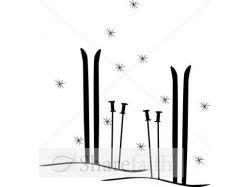 Лыжи клипарт