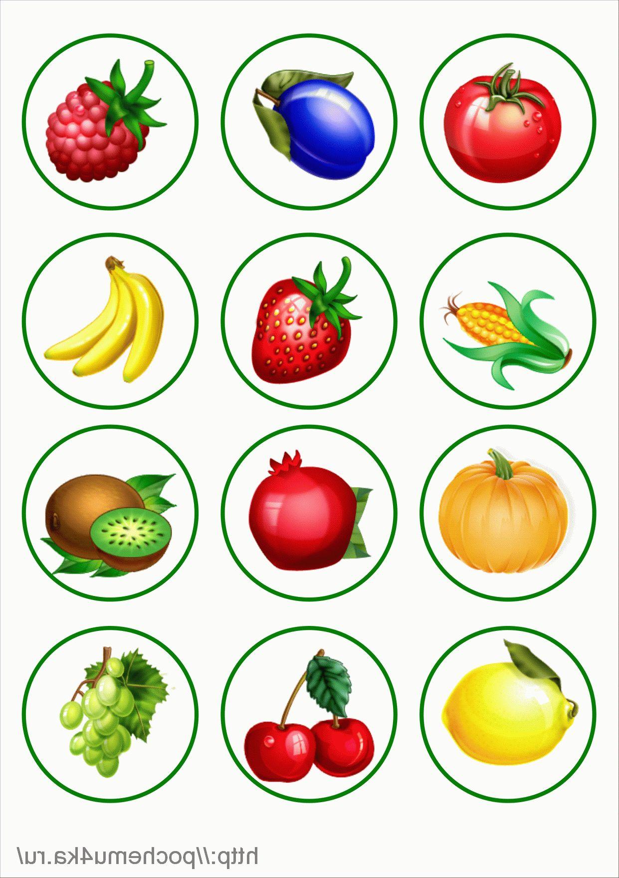 Предметные картинки овощей и фруктов для детей