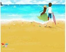 Детские рисунки на тему отдых на море