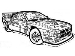Раскраски машины гоночные