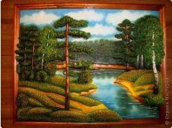 Рисунки гуашью природа