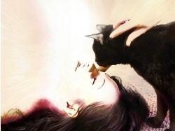 Фото женщина кошка