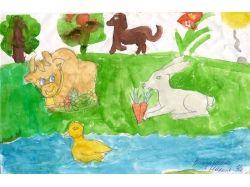 Рисунки детей природа