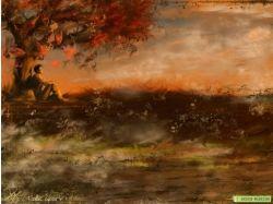 Картинки грустная осень