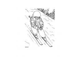 Зимние виды спорта раскраски для детей