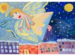 Рисунки детей к рождеству