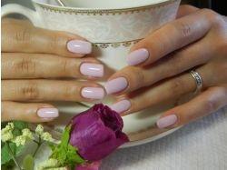 Цветок на ногтях фото