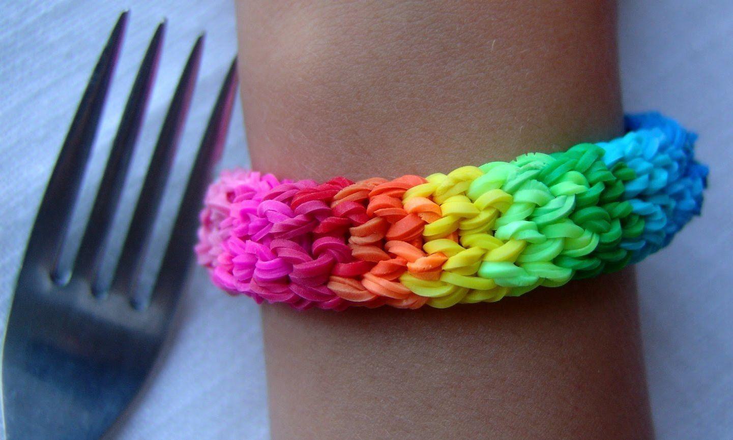 как сделать браслет из резинок плетенка