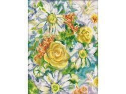 Цветы картинки нарисованные ромашки