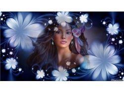 Девушка цветок картинки