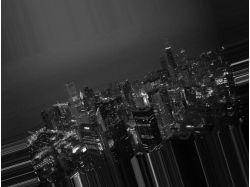 Черно белый город картинки