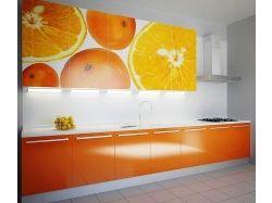 Кухня оранжевого цвета фото