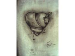 Нарисованные карандашом картинки про любовь
