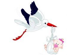 Аист с ребенком рисунок