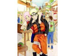Сакура и наруто картинки