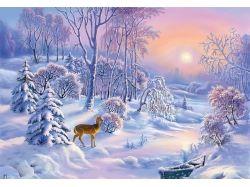 Рисунки детей на тему зима
