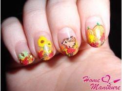 Осенние рисунки на ногтях фото