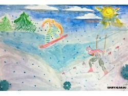 Рисунки о зимних видах спорта