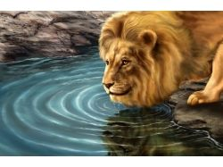 Картина льва