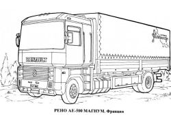 Раскраски машины грузовые