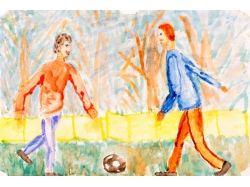 Рисунок на тему футбол