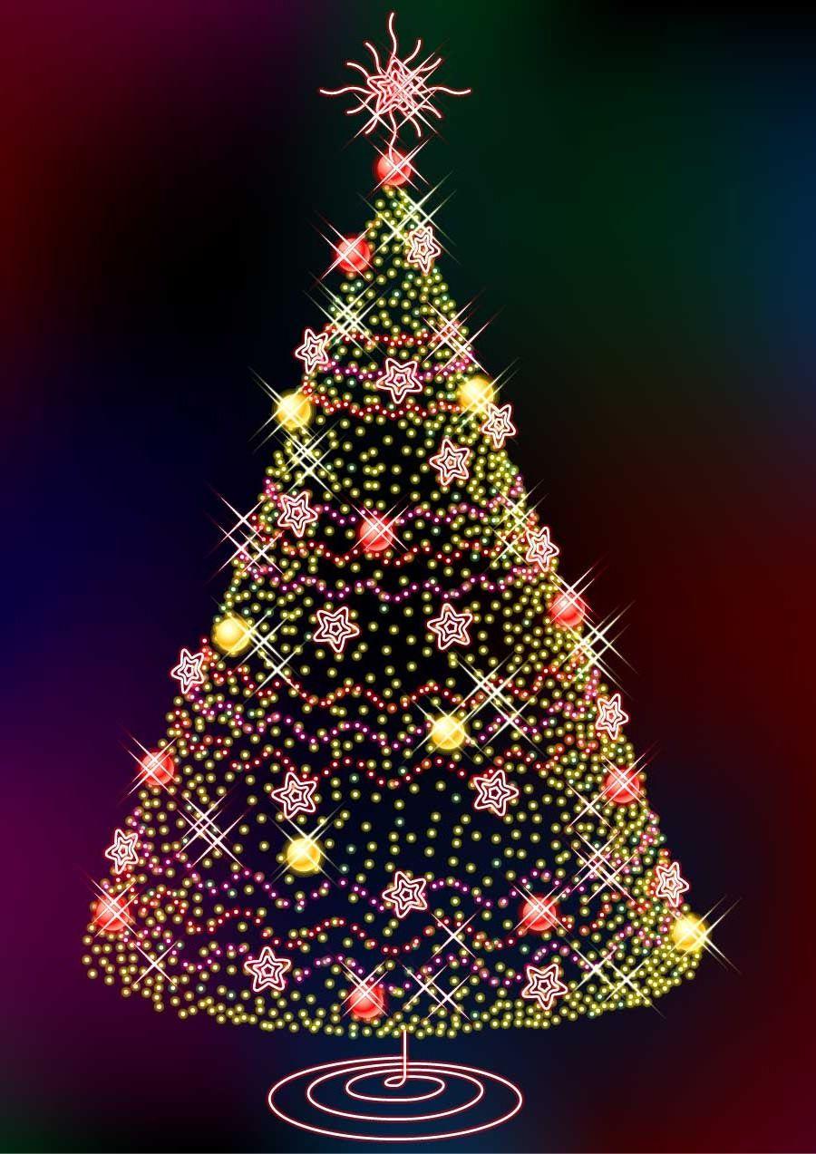 Картинки на телефон новогодняя елка