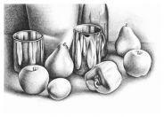 Натюрморт с фруктами для детей 8