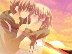 Картинки аниме поцелуи