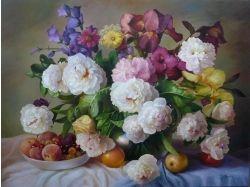 Картинки живопись цветы