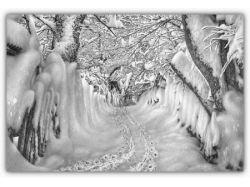 Рисунки зима карандашом