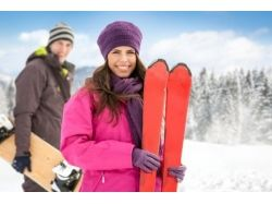 Фото катание на лыжах