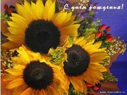 Открытки с днем рождения цветы 8