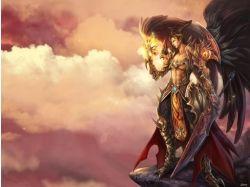 Картинки ангелов с крыльями