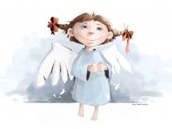 Картинки ангелов с крыльями 2