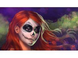 Как раскрасить лицо на хэллоуин фото
