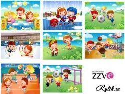 Спорт картинки детские 7