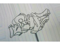Картинки граффити на бумаге 1