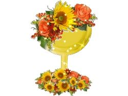 Смайлики цветы 8